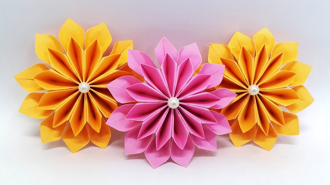 How To Make An Easy Origami Flower Inducedfo